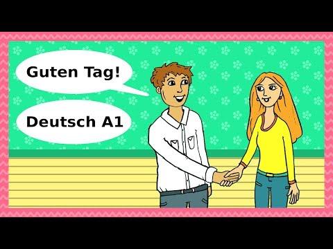 Deutsch A1 Guten Tag Begrüßungen Höflichkeit