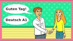Deutsch A1 - Guten Tag: Begrüßungen, Höflichkeit & Kennenlernen / Basic German for beginners