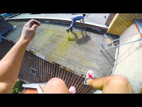 PARKOUR & FREERUNNING POV CHASE - MICHI LEBER VS URBAN AMADEI - BERLIN | GoPro HERO4