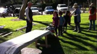Homeschoolers Build A Beam Bridge