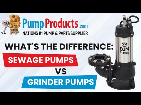 What's the Difference Between a Sewage Pump and a Grinder Pump?