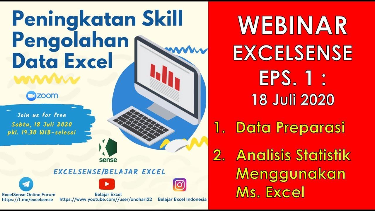 Pada lembar kerja olahraga, tempatkan kursor anda di sel a1 dan tempelkan data. Webinar Excel Pengolahan Data Dan Analisis Statistik Menggunakan Ms Excel Youtube