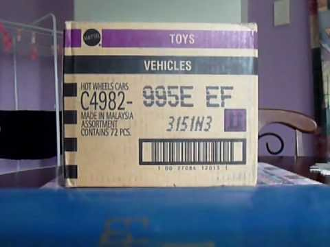 2012 Hot Wheels EEF Case (International) Unboxing Video
