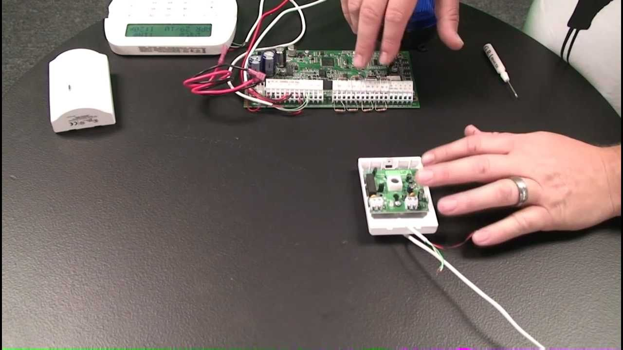 how to wire a motion detector to an alarm control panel