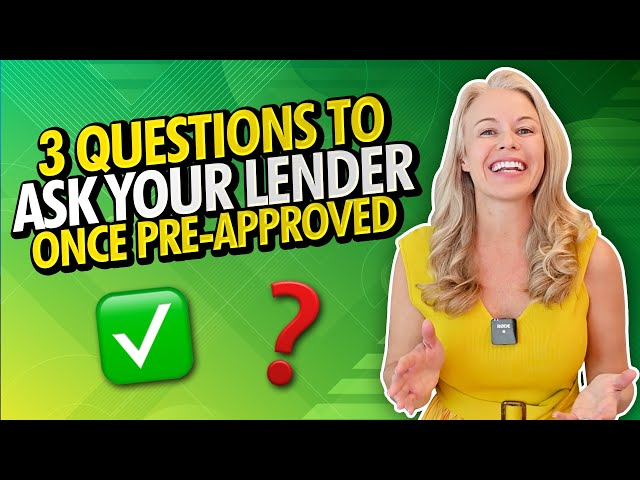 3 Questions To Ask When Your Mortgage Lender Gets You Pre-Approved For a VA Mortgage or FHA Loan 👍