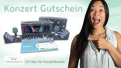 DIY Gutschein für Konzertkarten selber basteln | Bastelideen + Geschenkideen | mini-presents.com