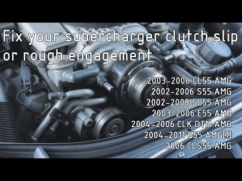 W211 E55 AMG Supercharger Clutch Pulley Adjustment - YouTube