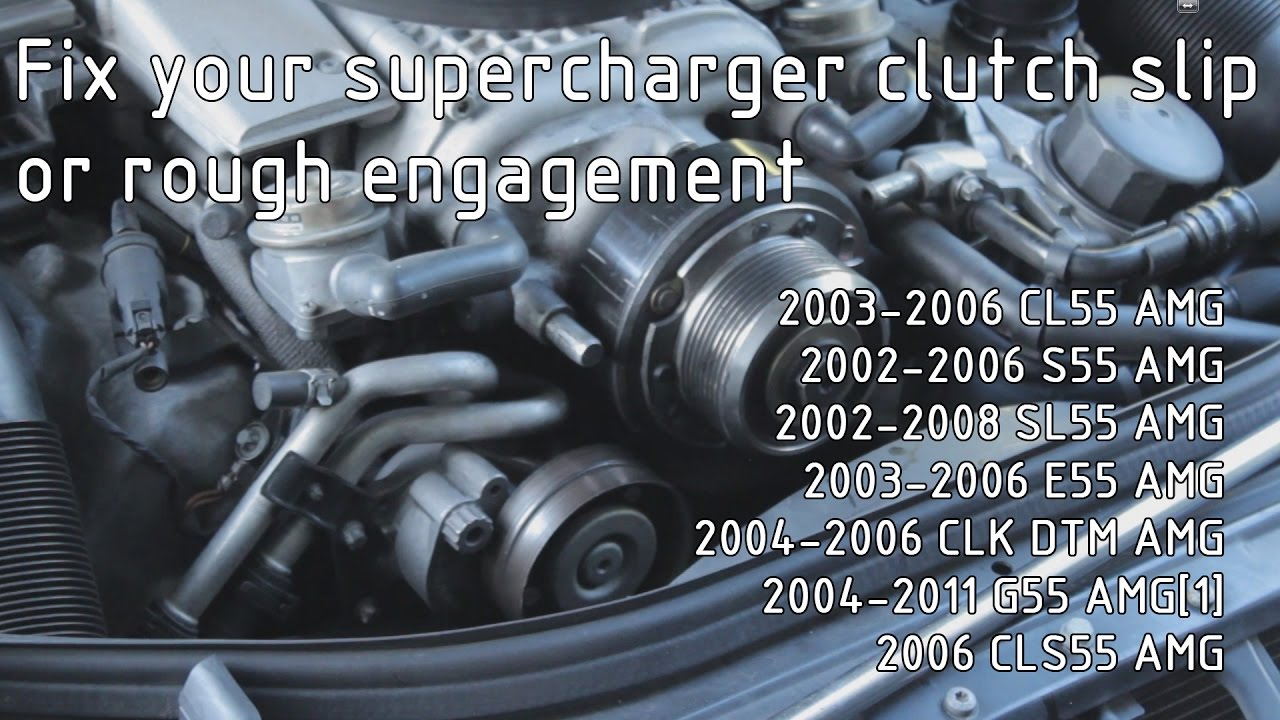 W211 E55 AMG Supercharger Clutch Pulley Adjustment