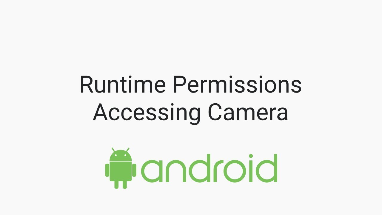 Simple Example on using CAMERA Access permission in versions