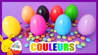 Les couleurs - Oeufs surprises et petits bonbons Smarties - Touni Toys
