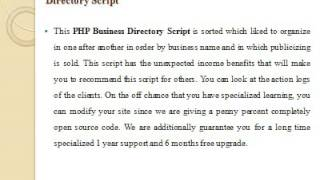 PHP Business Directory Script, PHP Web Directory Script