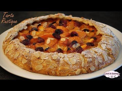 recette-de-la-tarte-rustique-abricot-framboise