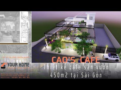 THIẾT KẾ MẪU QUÁN CAFE SÂN VƯỜN ĐẸP CAO'S CAFE ĐẦM SEN TP. HCM 450m2