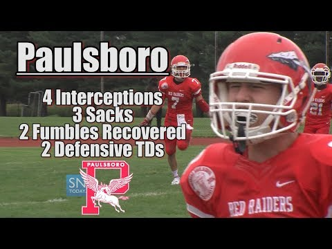 Paulsboro 37 Woodbury 0   Red Raiders Defense Dominates