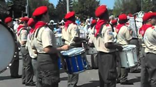 Troop 236 Boy Scout Marching Band Military Salute Memorial Day 2012