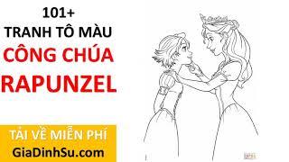 [MIỄN PHÍ] tải 101+ tranh tô màu công chúa Rapunzel cho bé - Công chúa Tóc mây - tại Giadinhsu.com