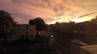 Thunderstorm and Sunset over DC, June 23 2015