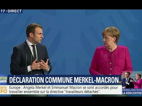 Conférence de presse d'Angela Merkel et Emmanuel Macron à Berlin