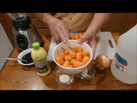Homemade Habanero Hot Sauce