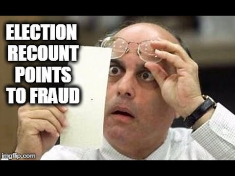 The Recount IS Pointing Toward Election Fraud!