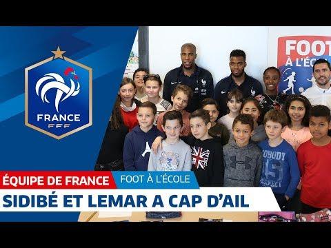 Equipe de France : Lemar et Sidibé avec les élèves du Cap d'Ail I FFF 2018