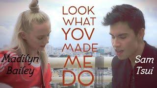 [中英文字幕] Look What You Made Me Do - Sam Tsui u0026 Madilyn Bailey (Cover)