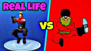 Squat Kick Dance - France Kasatschok Tanz im Real Life! 🇷🇺 Fortnite Bataille Royale