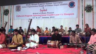 GOPIO-Gujarat Univ. Indian Diaspora Conf., Jan.12, 2012, Musical Evening by Saptak Part 1.MP4