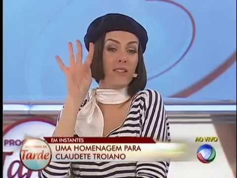 Claudete Troiano participa de brincadeira com Ana e Britto #Arquivo