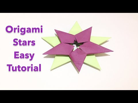Origami Paper Stars - How To Make Paper Art Easy - DIY paper Craft