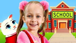 Maya learns to pack her School Bag - Children's Songs