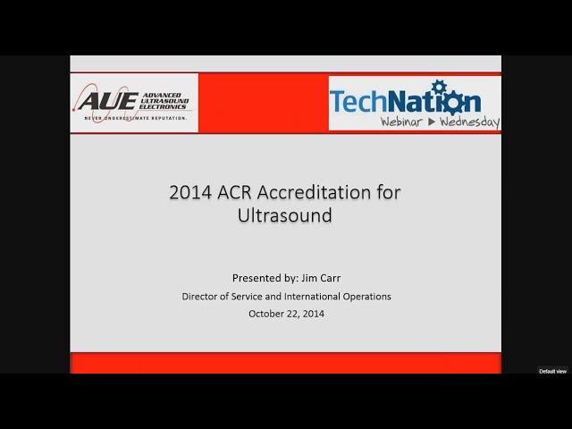 2014 ACR Accreditation for Ultrasound