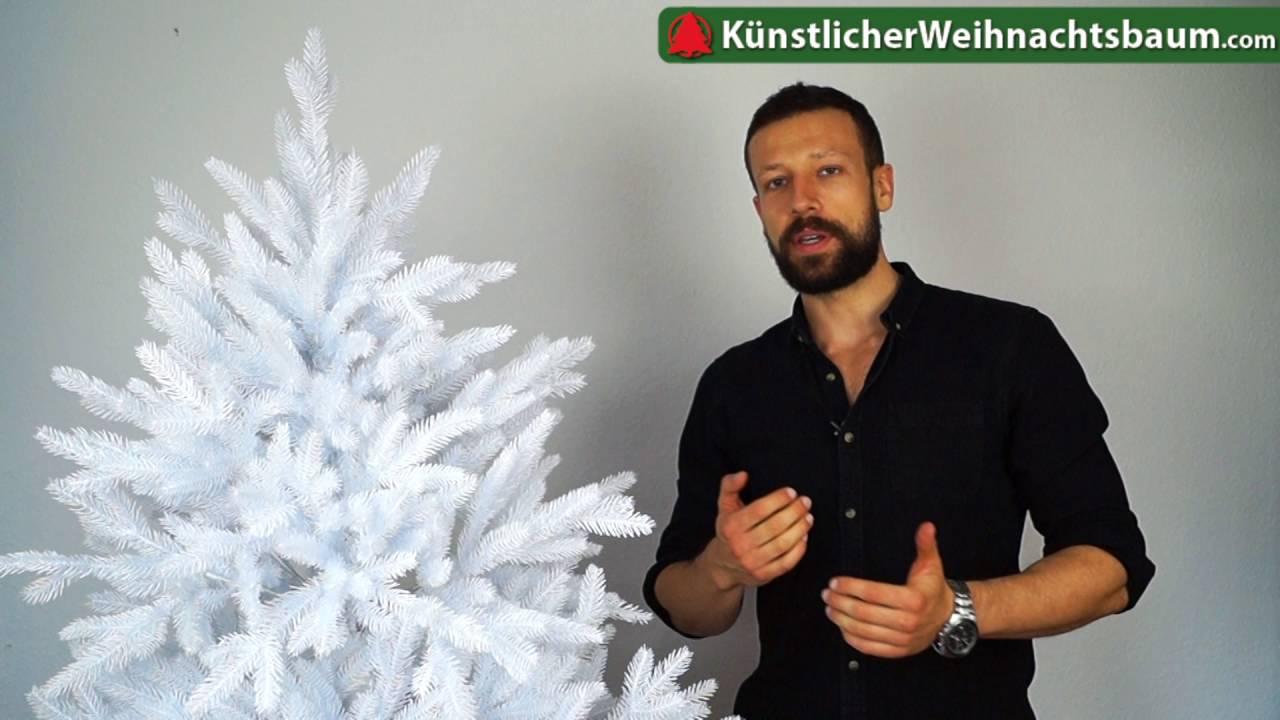 wei e deluxe nordmanntanne von dekoland im test k nstlicher weihnachtsbaum wei youtube. Black Bedroom Furniture Sets. Home Design Ideas