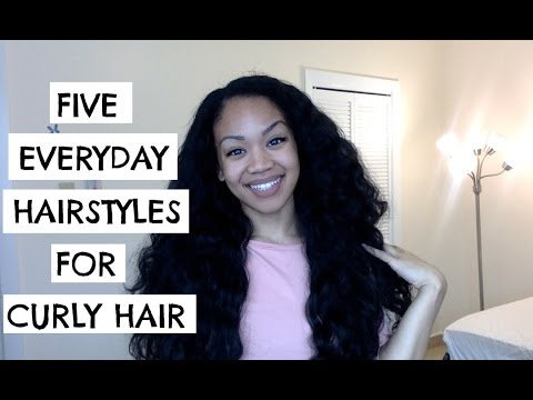 5 EVERYDAY HAIRSTYLES FOR CURLY HAIR || - YouTube