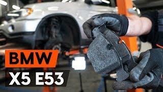 eesmine ja tagumine Piduriklotsid paigaldamine BMW X5: videoõpetused