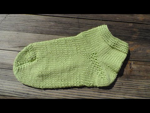 Wooly simple sock knitting tutorial 2 needles