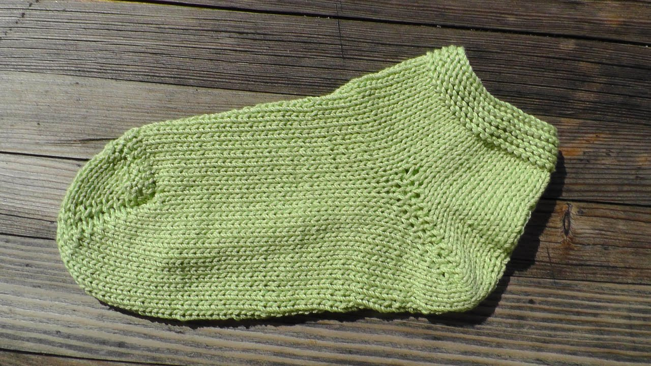 Wooly simple sock knitting tutorial 2 needles - YouTube