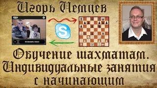 Индивидуальное занятие с начинающим. Вова Рубин. Обучение шахматам. Игорь Немцев