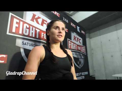 MILLIE ELDER-HOLMES INTERVIEW POST FIGHT INTERVIEW @ FIGHT FOR LIFE 2014
