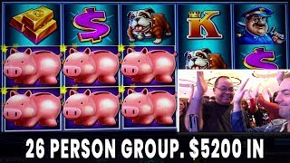🤑 $200/person GROUP PULL 🐖 Max Bet $25/spin Piggy Bankin 🎸 Hard Rock Atlantic City #ad
