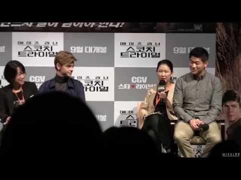 Maze Runner Scorch Trials Live Talk-Thomas Brodie-Sangster and Ki Hong Lee