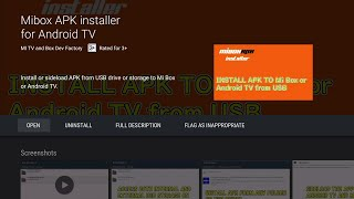 How to install APK to MI BOX or Android TV