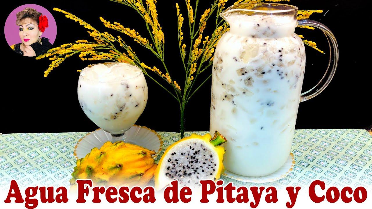 Agua Fresca de Pitaya y Coco