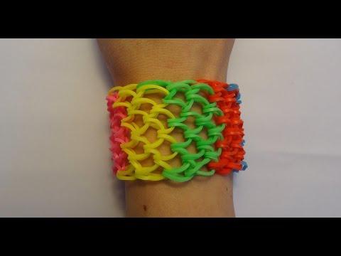 Bransoletka z gumek Loom Bands / Dragon Scale - smocza łuska / Rainbow Loom / Bracelet