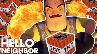 Minecraft Hello Neighbor - The Neighbor Blows Up My House (Minecraft Roleplay)