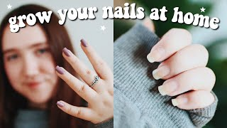 how to grow your nails at home   nail routine that grew my nails FAST