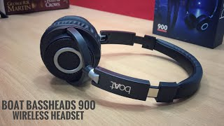Boat Bassheads 900 Wireless Headset Unboxing & Review in Hindi | Boat 900 Wireless Headphones