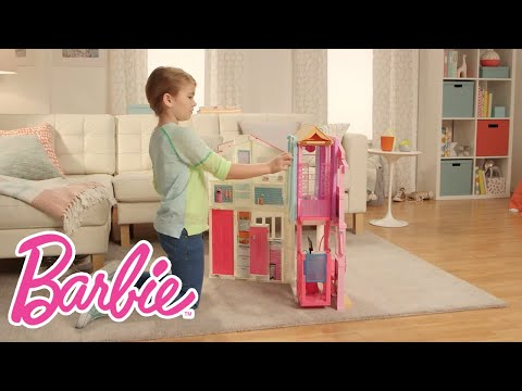 Barbie® 3-Story Townhouse Demo Video | Barbie