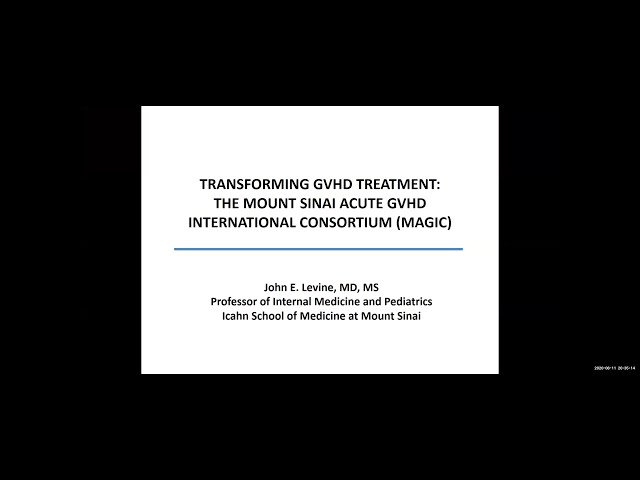 Transforming GVHD Treatment: The Mount Sinai Acute GVHD International Consortium (MAGIC)
