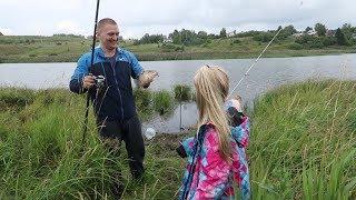 Моя первая рыбалка. Семейный отдых на природе. Карп, грыбы, палатка, шашлык